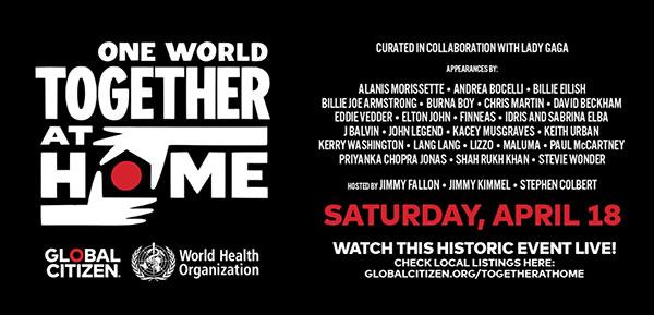 un mundo juntos en casa el concierto de la oms contra el covid 19 oneworldtogetherathome