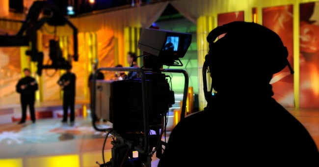 tv camera man studio show record 1