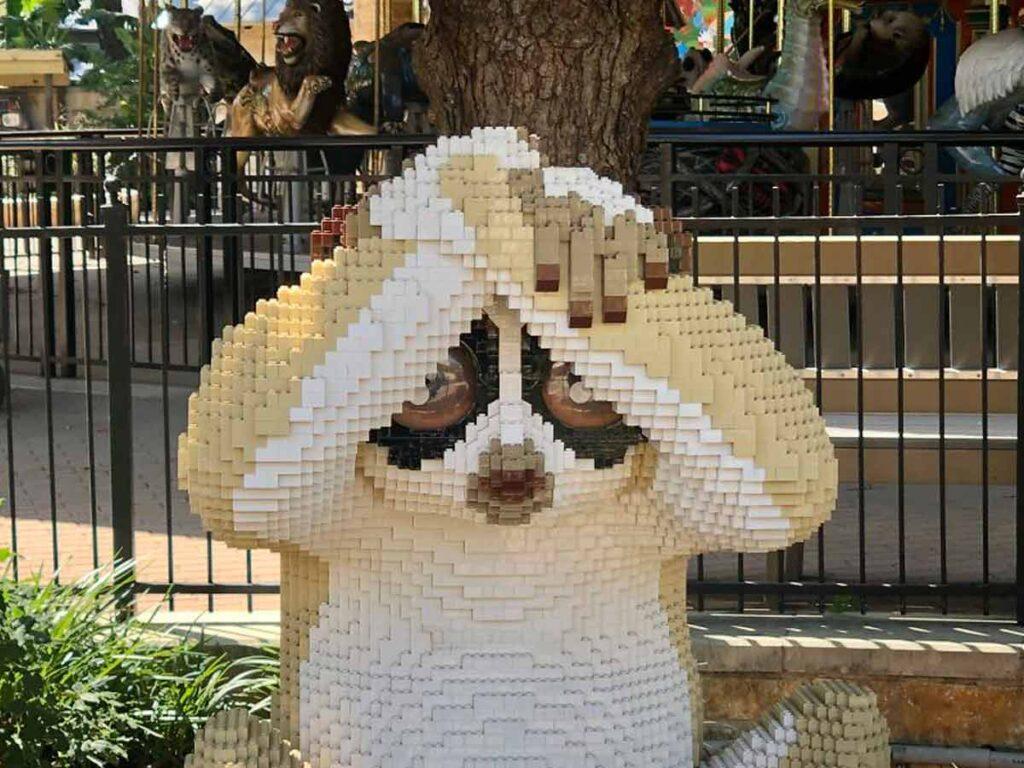 genial zoologico de animales solo en lego 2405911