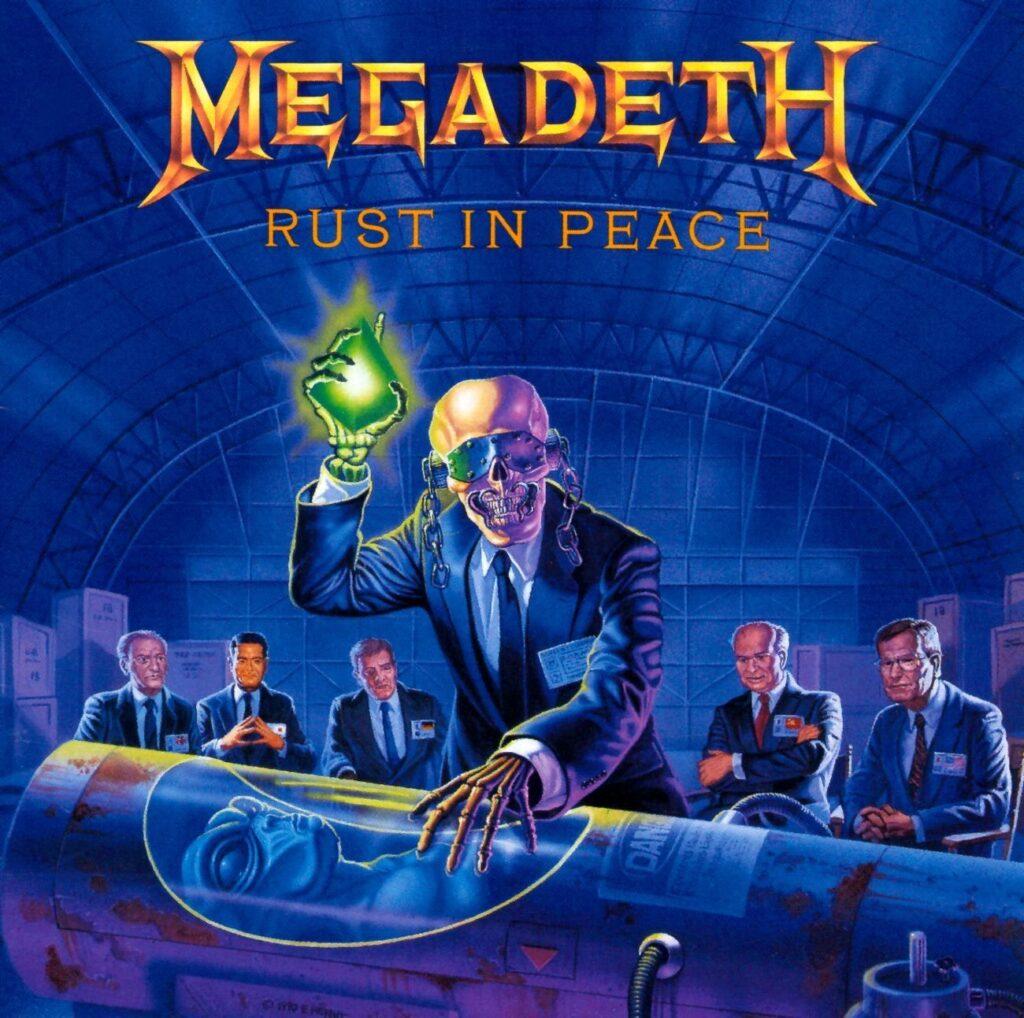 Portada de Rust In Peace de Megadeth