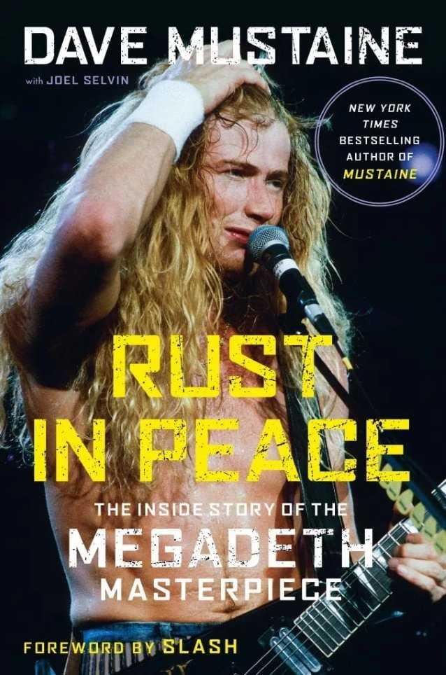 """Portada del libro sobre """"Rust In Peace"""" de Megadeth"""