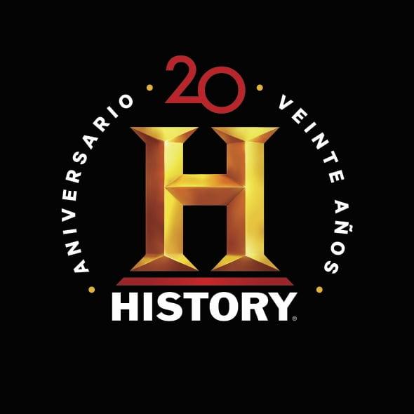 20 anos de historia history celebra su vigesimo aniversario logo20anosfondonegro2