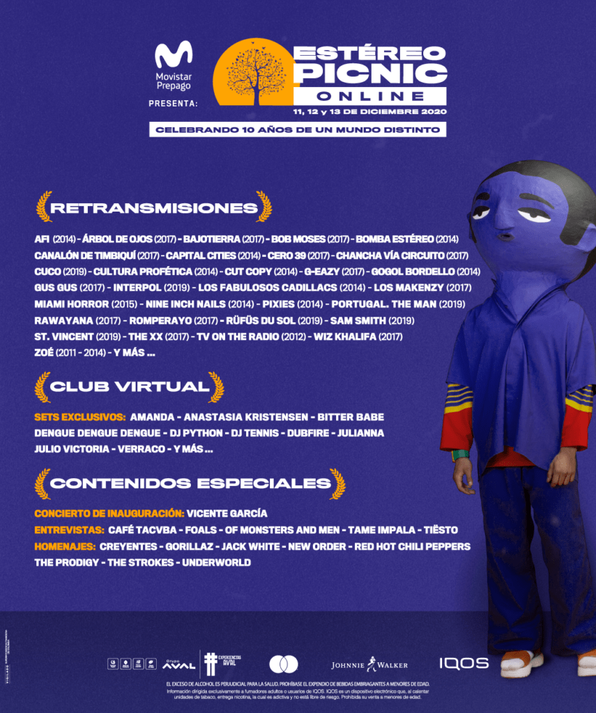 el festival estereo picnic online revivira la magia de una decada de musica en vivo unnamed