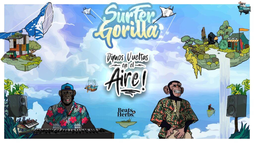 surfer gorilla lanza dimos vueltas en el aire surfer gorilla 3