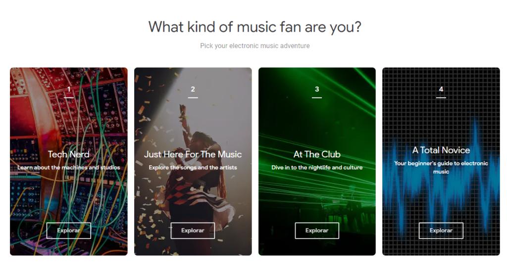 google pone a disposicion del publico una exhibicion en linea sobre la historia de la musica electronica screenshot 1