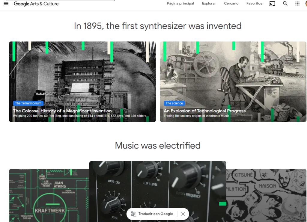 google pone a disposicion del publico una exhibicion en linea sobre la historia de la musica electronica screenshot 3
