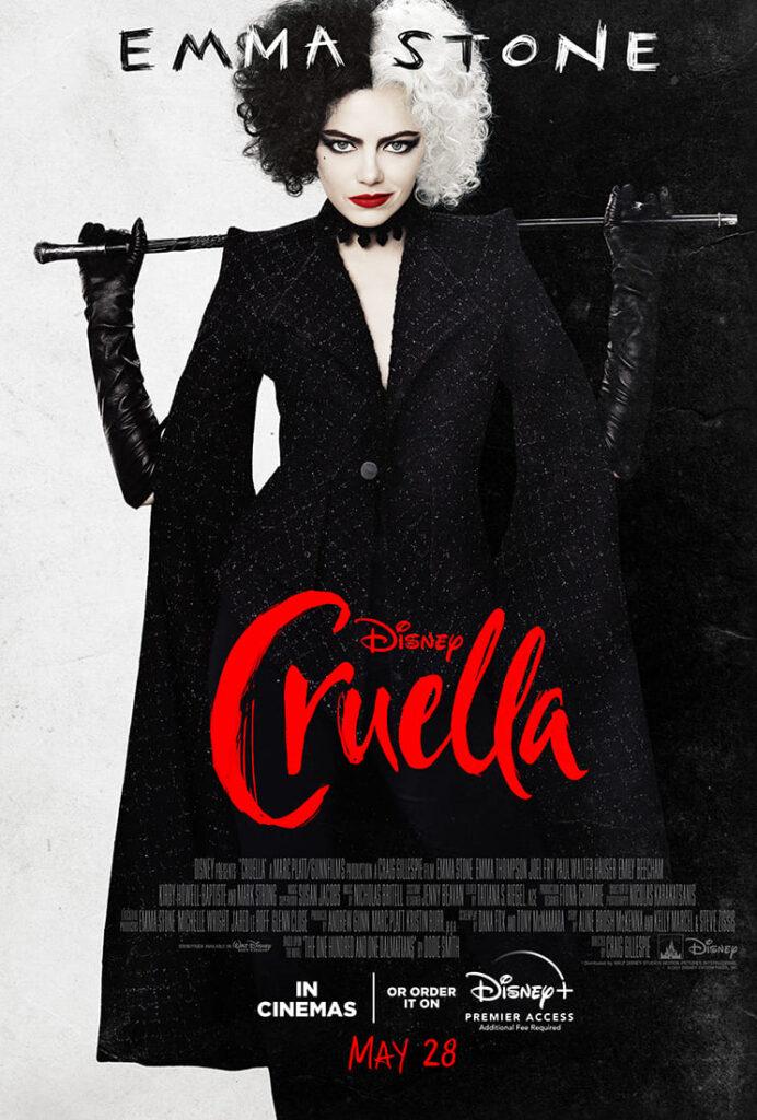 Cruella con Emma Stone, afiche oficial