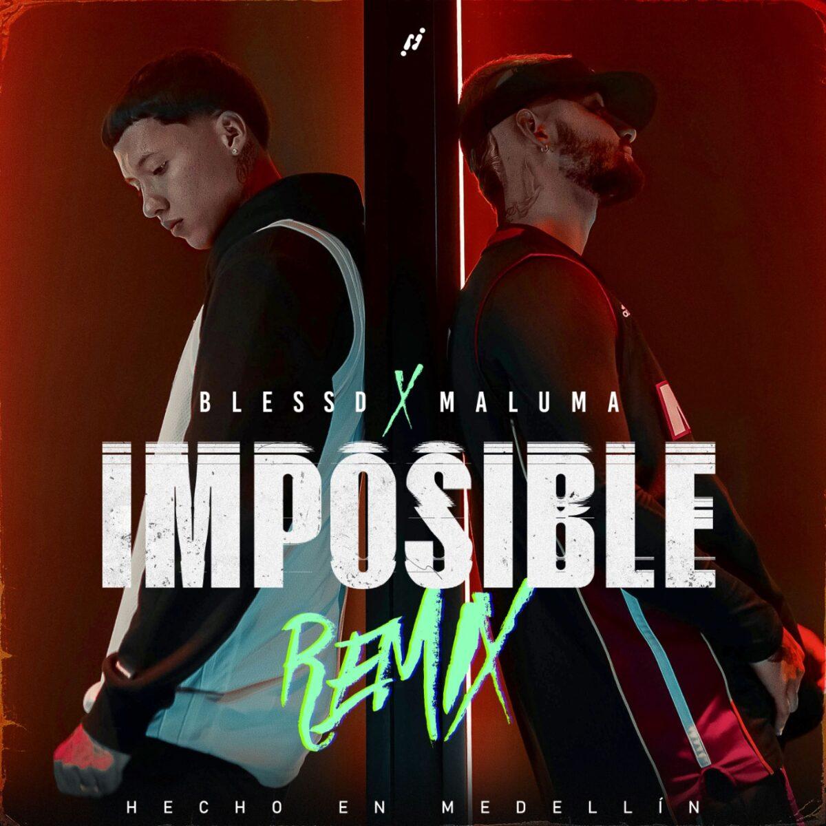 blessd maluma presentan imposible remix cover imposible remix 2021