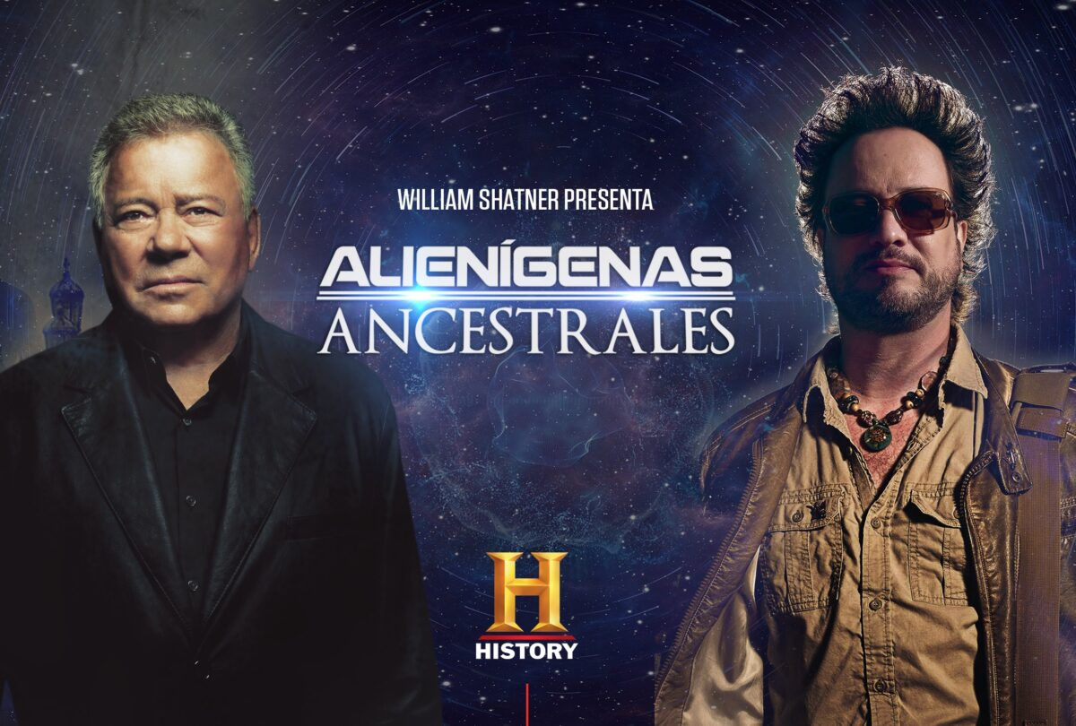 imperdible episodio especial de alienigenas ancestrales con william shatner keyart history shatner presenta alienigenas