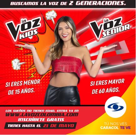 ultimo dia de inscripciones caracol television busca la voz de dos generaciones la voz colombia