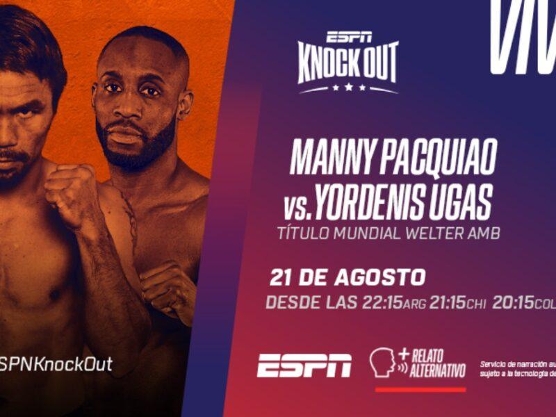 manny pacquiao vs yordenis ugas esta noche por espn knockout manny pacquiao