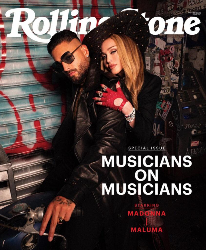 La portada de Rolling Stone con Madonna y Maluma